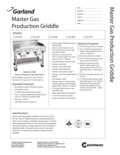 CG Series Chain Griddles Counter Equipment