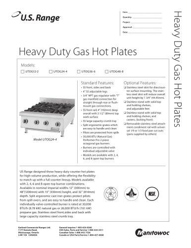 Heavy Duty Gas Hot Plates