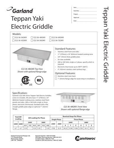 Teppan Yaki Electric Griddle